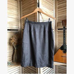 🥀5/$25 Vintage Grey Silk Midi Skirt